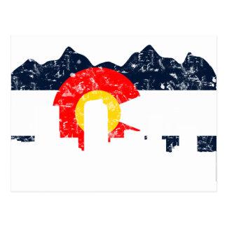 Denver Colorado Flag Postcard