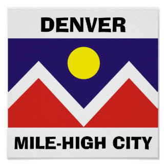 Denver, Colorado Flag Poster