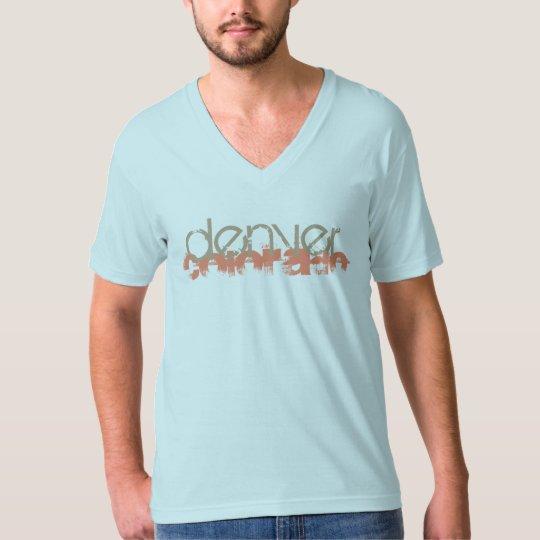 Denver Colorado Mens Soft Vee T Shirt