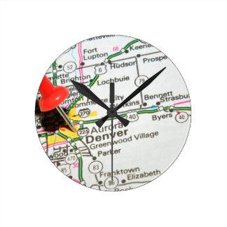Denver, Colorado Round Clock