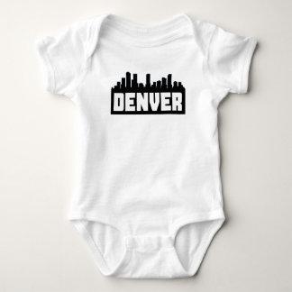 Denver Colorado Skyline Baby Bodysuit