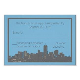 Denver Colorado skyline custom RSVP cards