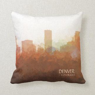 Denver, Colorado Skyline-In the Clouds Throw Pillow
