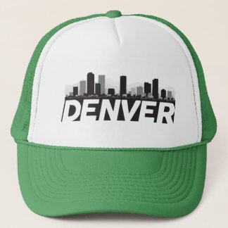 Denver Colorado Skyline Trucker Hat