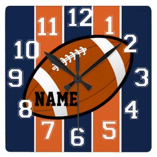 Denver Colors Football Wall Clock