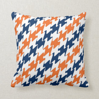 Denver Football Orange Blue & White Team Colors Throw Pillow