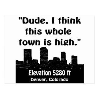 Denver High Town Postcard