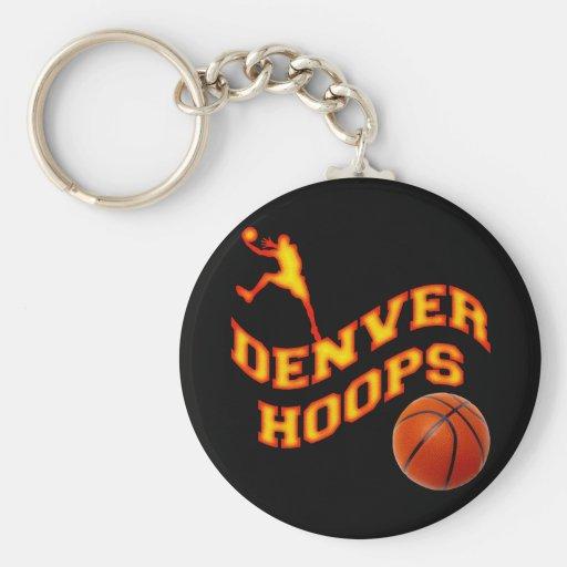 Denver Hoops Keychain