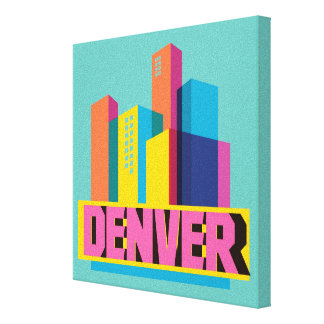 Denver In Design Canvas Print