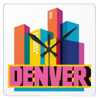 Denver In Design Wall Clocks