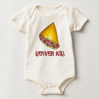 DENVER KID Colorado Omelette Egg Omelet Breakfast Baby Bodysuit