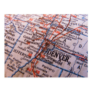 Denver Map Postcard