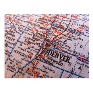Denver Map Postcard