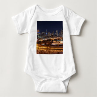 Denver Night Skyline Baby Bodysuit