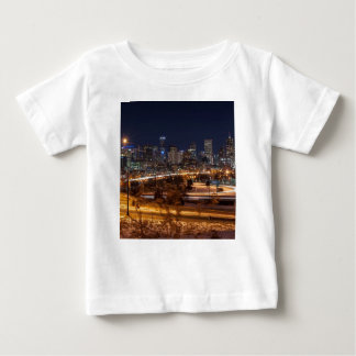 Denver Night Skyline Baby T-Shirt