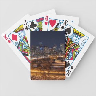 Denver Night Skyline Bicycle Playing Cards
