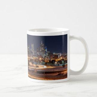 Denver Night Skyline Coffee Mug