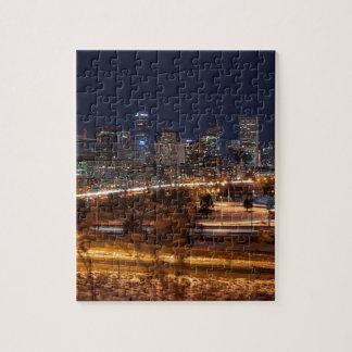 Denver Night Skyline Jigsaw Puzzle