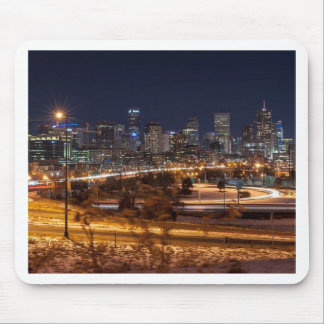 Denver Night Skyline Mouse Pad