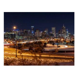 Denver Night Skyline Postcard