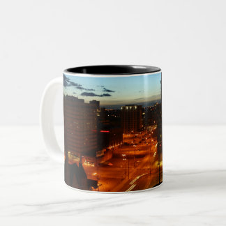 Denver Nightscape Two-Tone Coffee Mug
