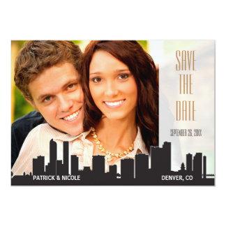 Denver Save the Date City Series Card