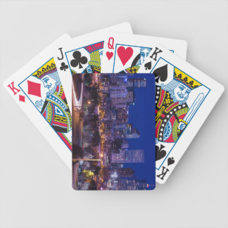 Denver Skyline At Night - Colorado Bicycle Playing Cards