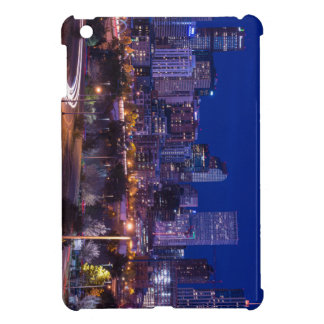 Denver Skyline At Night - Colorado Cover For The iPad Mini