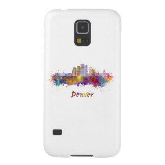 Denver skyline in watercolor case for galaxy s5