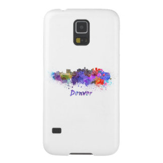 Denver skyline in watercolor galaxy s5 covers