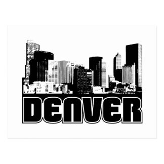 Denver Skyline Postcard