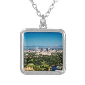 Denver Skyline Silver Plated Necklace