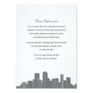 Denver Skyline Wedding Insert Card