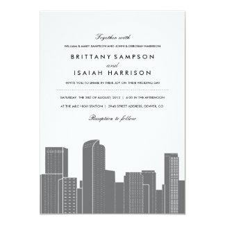 Denver Skyline Wedding Invitation
