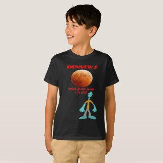 Denver's Lunar Eclipse Blood Moon 01.31.2018 T-Shirt