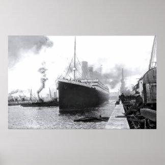 Departing Southampton:  RMS Titanic Poster