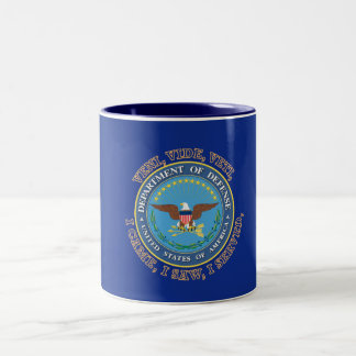 Department of Defense DOD VVV Shield Two-Tone Coffee Mug