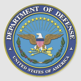 Department of Defense Round Sticker
