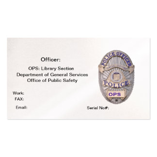 Department of General Services Office of Public Sa Business Card Templates