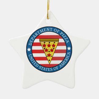 Department of Pizza Ceramic Star Ornament