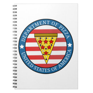 Department of Pizza Spiral Notebook