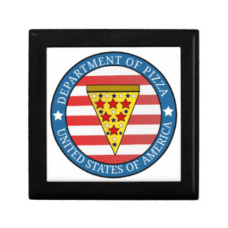 Department of Pizza Trinket Boxes
