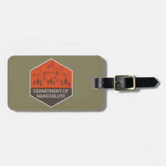 Department of Wanderlust Luggage Tag