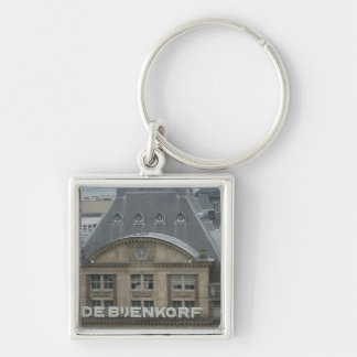 Department store Silver-Colored square keychain