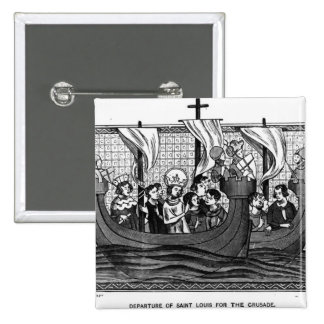 Departure of St. Louis for the Crusade 2 Inch Square Button
