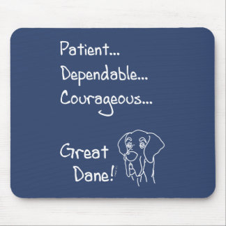 Dependable great dane mouse pad