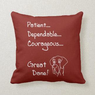 Dependable great dane throw pillow