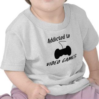 Dépendant aux jeux vidéo t-shirts