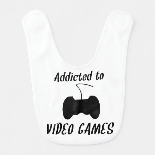 Dépendant aux jeux vidéo bavoir pour bébé
