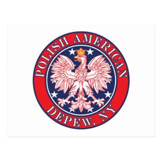 Depew New York Polish Postcard